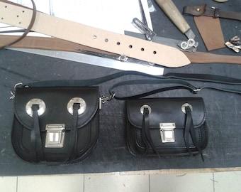 Custom Men's belt bag, Biker bag, Handmade, Genuine leather