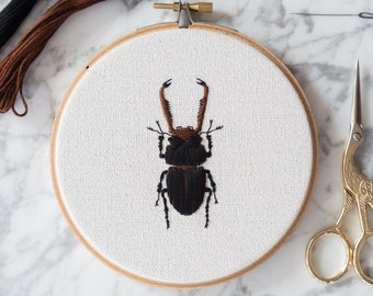 Embroidered Stag Beetle