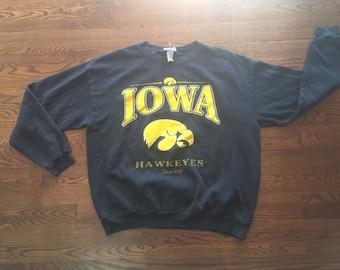 Vintage 90's University Iowa Hawkeyes Crewneck Sweatshirt NCAA XL