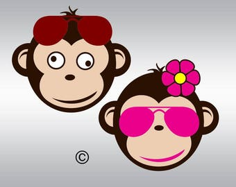 Monkey svg, Baby Monkey svg, Monkey svg, Little Monkey svg, SVG Files, Cricut, Cameo, Cut file, Files, Clipart, Svg, DXF, Png, Pdf, Eps