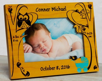 Personalized Baby Picture Frame,  Baby Boy Picture Frame, New Baby Boy Frame, Baby Boy Frame, Baby Boy Birth Frame, Baby Frame For Boys