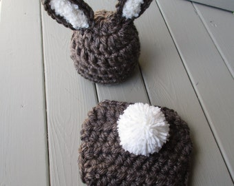 Baby Bunny Outfit Baby Bunny Hat Crochet Bunny Crochet Baby Outfit Easter Bunny Hat Set Newborn Bunny Photo Prop