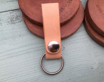 Leather Keychain - Key Holder Leather - Leather Key Fob - Boho Keychain - Leather Key Holder - Leather Keyring - Minimalist Keyholder