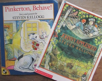 Pinkerton Behave Johnny Appleseed Steven Kellogg Picture Book Set of 2