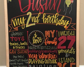 Birthday Milestone Chalkboard