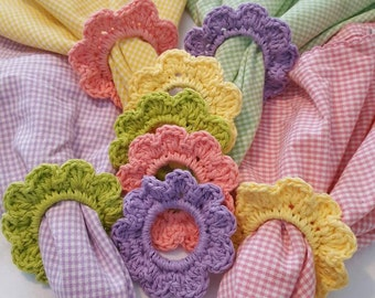 Handcrochet seasonal spring and Easter napkin rings