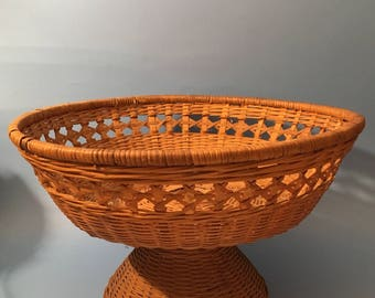 Bamboo Handcrafted weaved Fruit Bowl