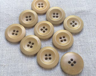 10 vintage vegetable ivory buttons