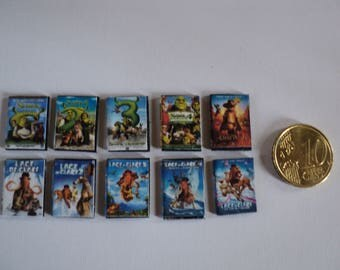 Miniature cartoons DVD  1:12th scale