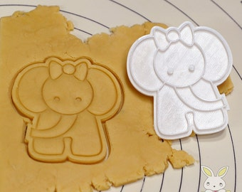Cute Elephant Cookie Cutter and Stamp