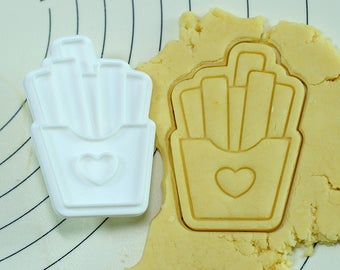 French Fries Cookie Cutter and Stamp