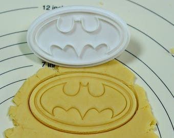 The Symbol of Batman Cookie Cutter and Stamp