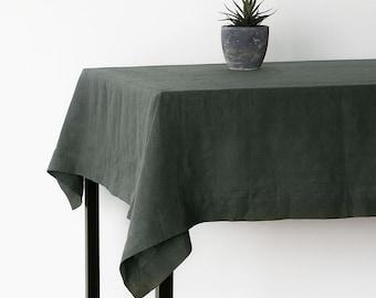 Natural Linen Tablecloth,Christmas Linen Table Cloth,Handmade  Homeware,Modern Design Large Tablecloth,Table Linens, Christmas Decorating