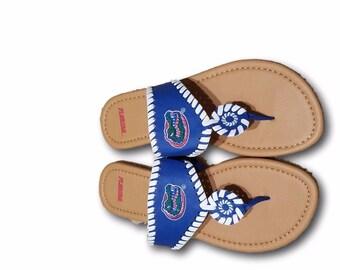 New Florida Gators Orange/Blue Whipstitch Sandals 2017
