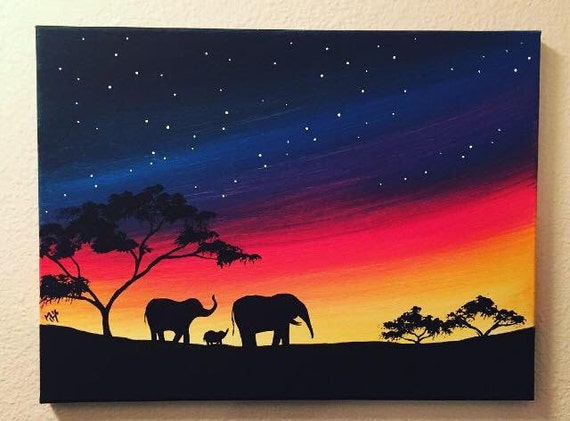 Elephant family painting - photo#17