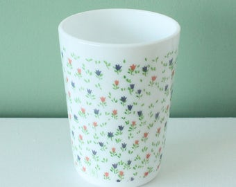 Flower print Glass Yves Rocher - vintage