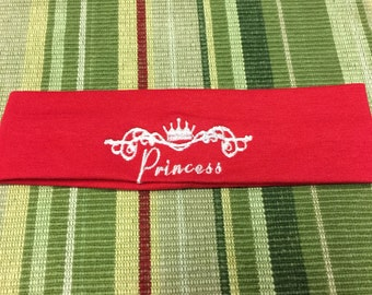 Embroidered Stretch Headband-Princess-Baby/Toddler/Girl