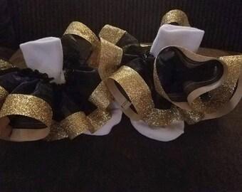 Ruffle Lace Socks with Glitter Ribbon Trim
