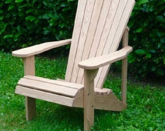 Classic Adirondack Chair in larch-handmade-handmade wooden chair-made in Italy