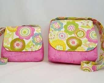 Mother daughter handbags - Mini me bags - Fabric handbags - Crossbody handbags - Cross body bag - Woman's handbag - Shoulder bag