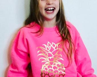 Pineapple sweatshirt , Unique design , XS-XXL Children's sweatshirt , Ladies sweatshirt, Child's sweatshirt, Ladies hoodie
