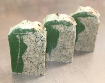Vegan Soap Herbal Salt from Bas St-Laurent /  fat on soap / vegan / handmade / shea butter / natural / +/- 85 gr
