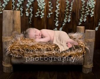 digital newborn backdrop, newborn photography prop, newborn prop,newborn digital backdrop, Digital download, newborn bed, newborn wood bed
