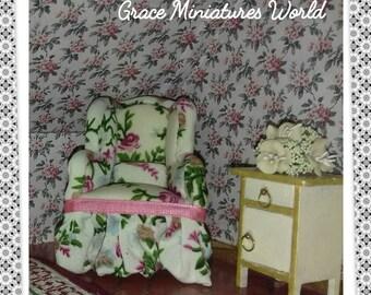 "Armchair series ""Romantic roses""/Armchair/Fauteuil/Silla"