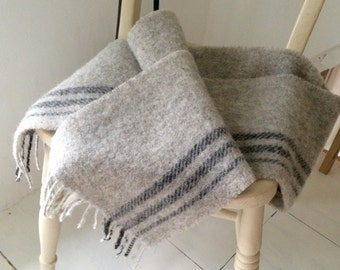 Handmade, natural, limited edition Shetland wool scarf