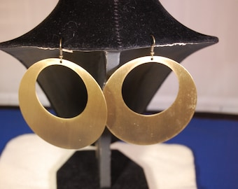 Set Of Three Metal Earrings