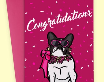 Congratulations - Sassy Dog - Celebration Card