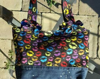 Bag fabric and jeans/shoulder bag