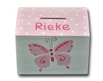 """Piggy bank """"Pink Butterflies"""""""