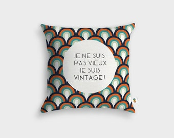 Cushion OLD VINTAGE - Made in France - 45 x 45 cm