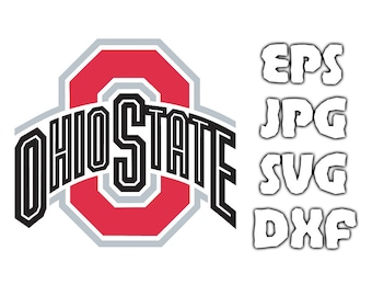 Ohio State Buckeyes logo SVG - Vector Design in Svg Eps Dxf Jpeg Format INSTANT DOWNLOAD