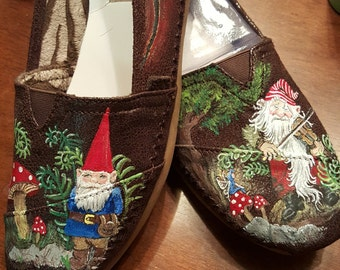 Handpainted Gnome Shoes