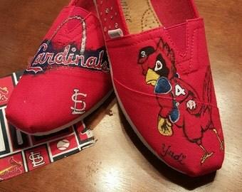 Dirty Bird Cardinals Custom painted shoe
