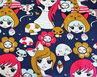 Jersey print anime girl