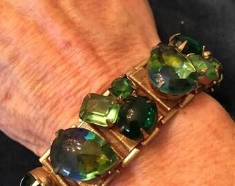 Vintage Multi Colored Faux Gem Bracelet