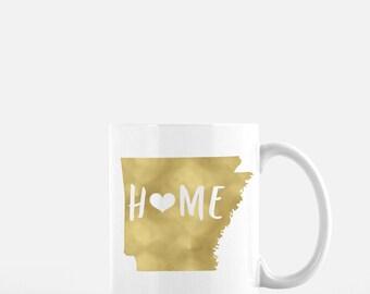 Arkansas. Mug. Available in black, gold foil, or silver foil