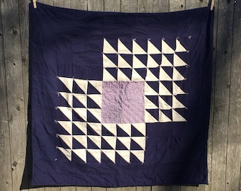 Handmade Quilt with Reclaimed Fabric