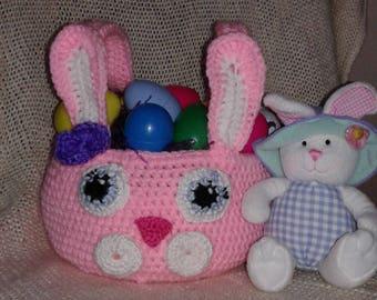Crochet Easter Bunny Basket