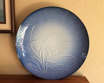 "Large 16"" ARITA Japanese Iris/Orchid Platter or Decorative Plate"