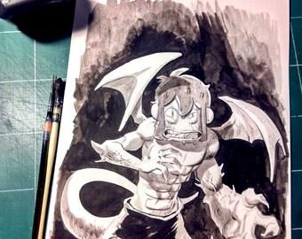 Fan art of Arty in Chinese ink - Dofus Manga