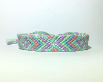 Bracelet pastel colors and silver-2.50