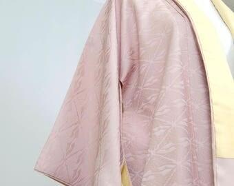 Vintage Silk Kimono Robe - Women's clothing/silk robe/purple robe/kimono jacket/dressing gown/boho kimono/coverup/kimono cardigan/poncho
