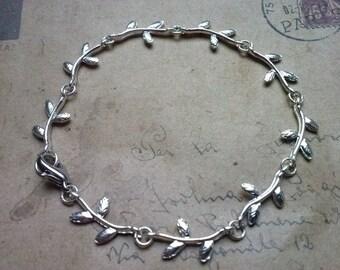 Leaves bracelet ~ silver ~
