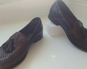 COLE HAAN Braided Leather Loafers