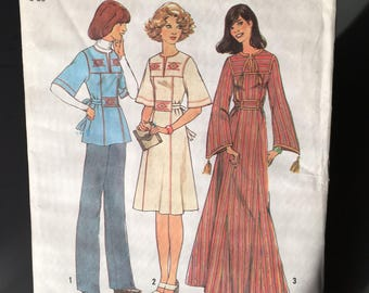 Vintage 1970's UNCUT Simplicity 7588 Sewing Pattern