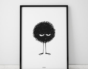 Poster with the doodle, 50x70, 40x50, offset print